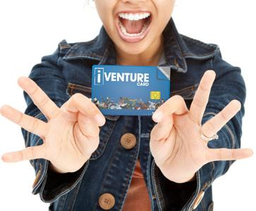 Iventure card. Save 40%!